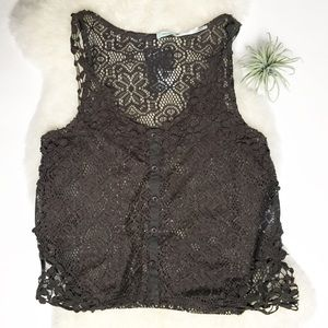 Urban Outfitters | Kimchi Blue crochet lace top